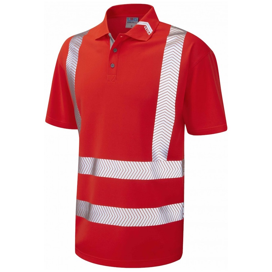 Leo Workwear P09 R Broadsands Hi Vis Coolviz Ultra Polo
